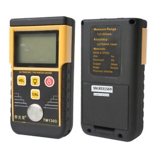 TM130D 225MM Digital Ultrasonic Wall Thickness Gauge Tester Meter Fo Metal tool