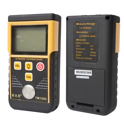 TM130D Digital Ultrasonic Thickness Gauge Tester Meter For Metal Steel 1.2~220mm