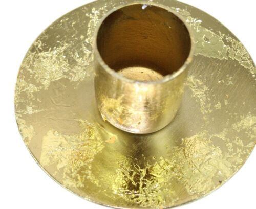 Tall Gold Floral Candlestick Flower Design Taper Candle Holder Dinner For Table
