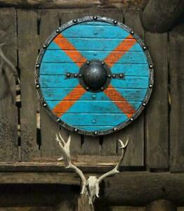 """Medieval Shield 24"""" Inches Hand Craft Viking Wooden Shield Collectibles Gifts"""