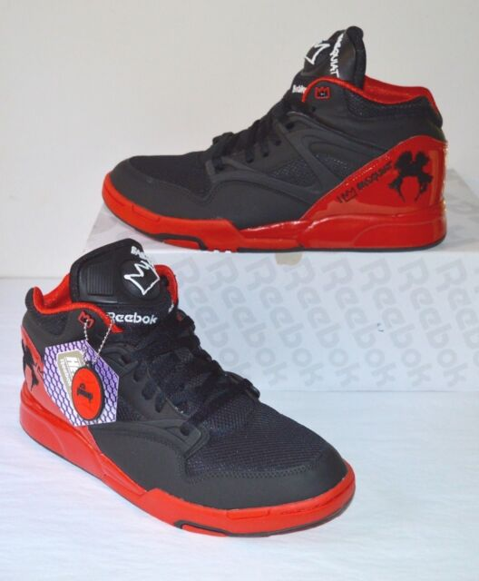 b511af528444 DS Reebok Pump Omni Lite Basquiat Affili art Black motor Red white ...