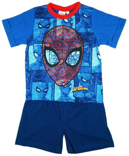 Boys Pyjamas Marvel Spiderman Pajamas Summer Shorty Pjs Spidey 3 to 10 Years