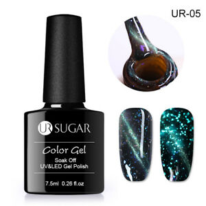 UR-SUGAR-7-5ml-Nagel-Gellack-Magnetisch-Leuchtend-Soak-Off-UV-Gel-Nagellack-UR05