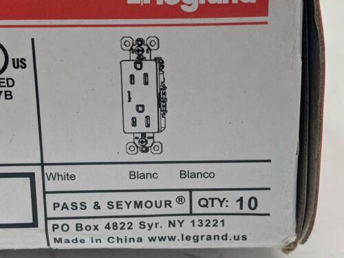 Details about  /Legrand Pass /& Seymour 15a 125 Volt Decorator Receptacles 885W 10 Pack *READ*