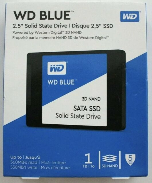 WD Blue 1TB 3D NAND SATA III 2.5 in. Internal SSD - Brand New‼️🌟✅‼️