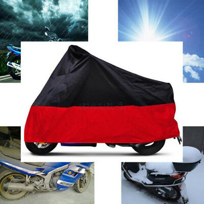 XXXL Waterproof Motorcycle Cover Fit For Harley Dyna Super Wide Glide Low Rider