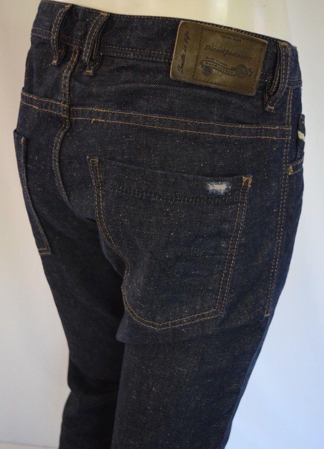 228 Diesel modisto Delgado Zanahoria Jeans Hombre Talla 32 X34.5 en 0820N moteado Arruga  estar en gran demanda