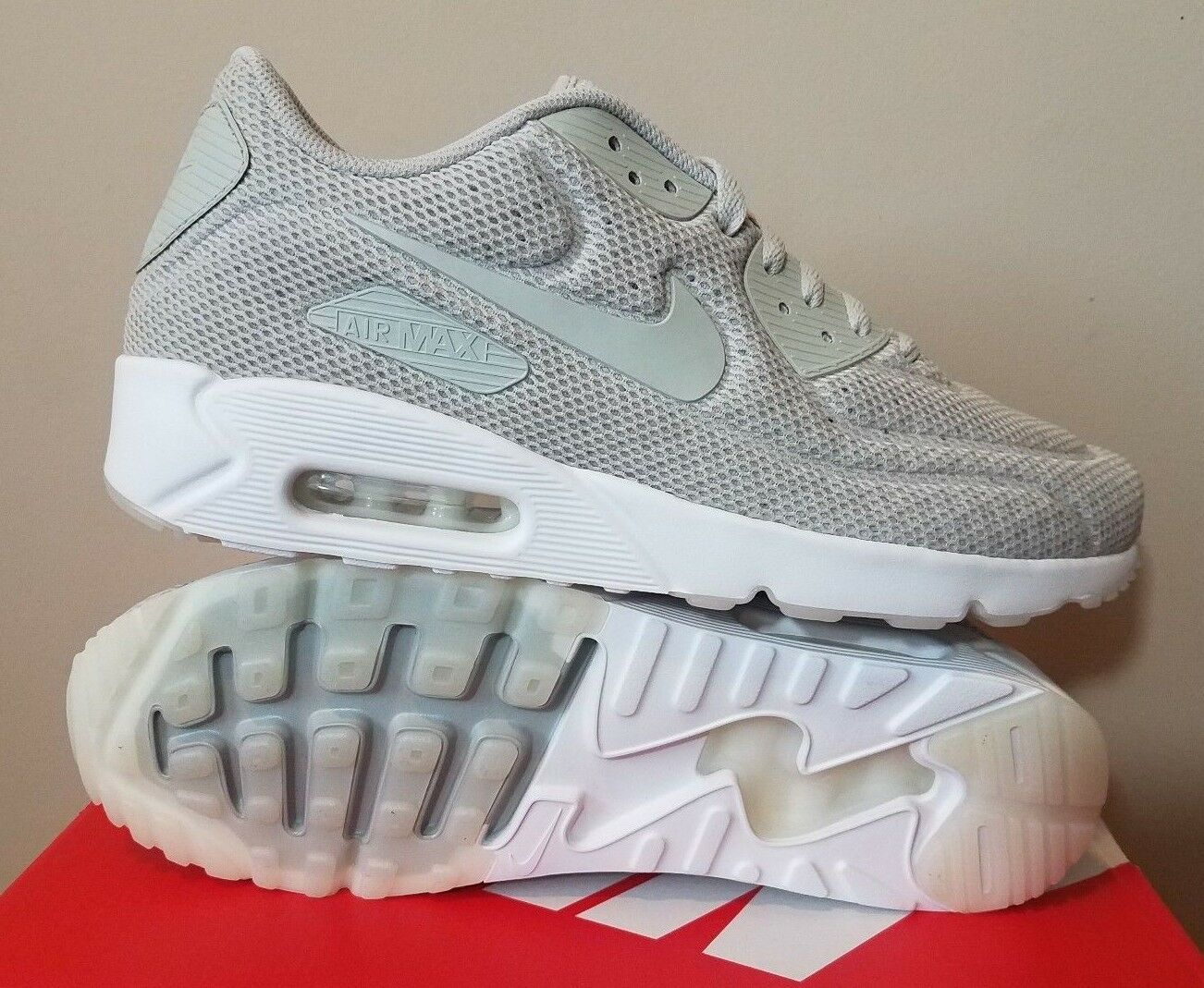 Casual wild Mens Nike Air Max 90 Ultra 2.0 BR Pale Gray Running Shoe NWT
