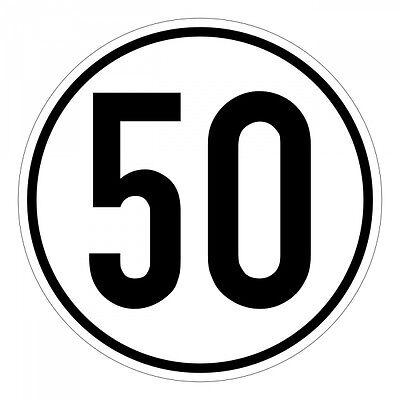 Obliging Geschwindigkeitsschild Uk (great Britain) Geschwindigkeitsaufkleber 50 Kmh 20cm Nach § 58 Stvzo