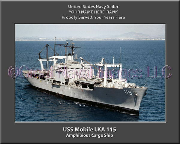 USS Mobile LKA 115 Personalized Canvas Ship Photo Print Navy Veteran Gift