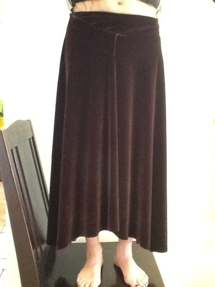 FUZZI S.GIOVANNI IN MARIGNANO Made in  Long braun Skirt Größe M 100% Authent