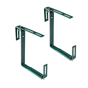 Flower Box Holder for Mounting on or Fences Xclou Window Box Brackets in Green