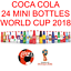 thumbnail 3 - 24 MINI COCA COLA BOTTLES RUSSIA SOCCER FOOTBALL WORLD CUP 2018 MEXICO