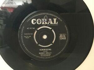 Buddy-Holly-Reminiscing-7-034-Vinyl-Single-1962-Q72455-EEFLMN