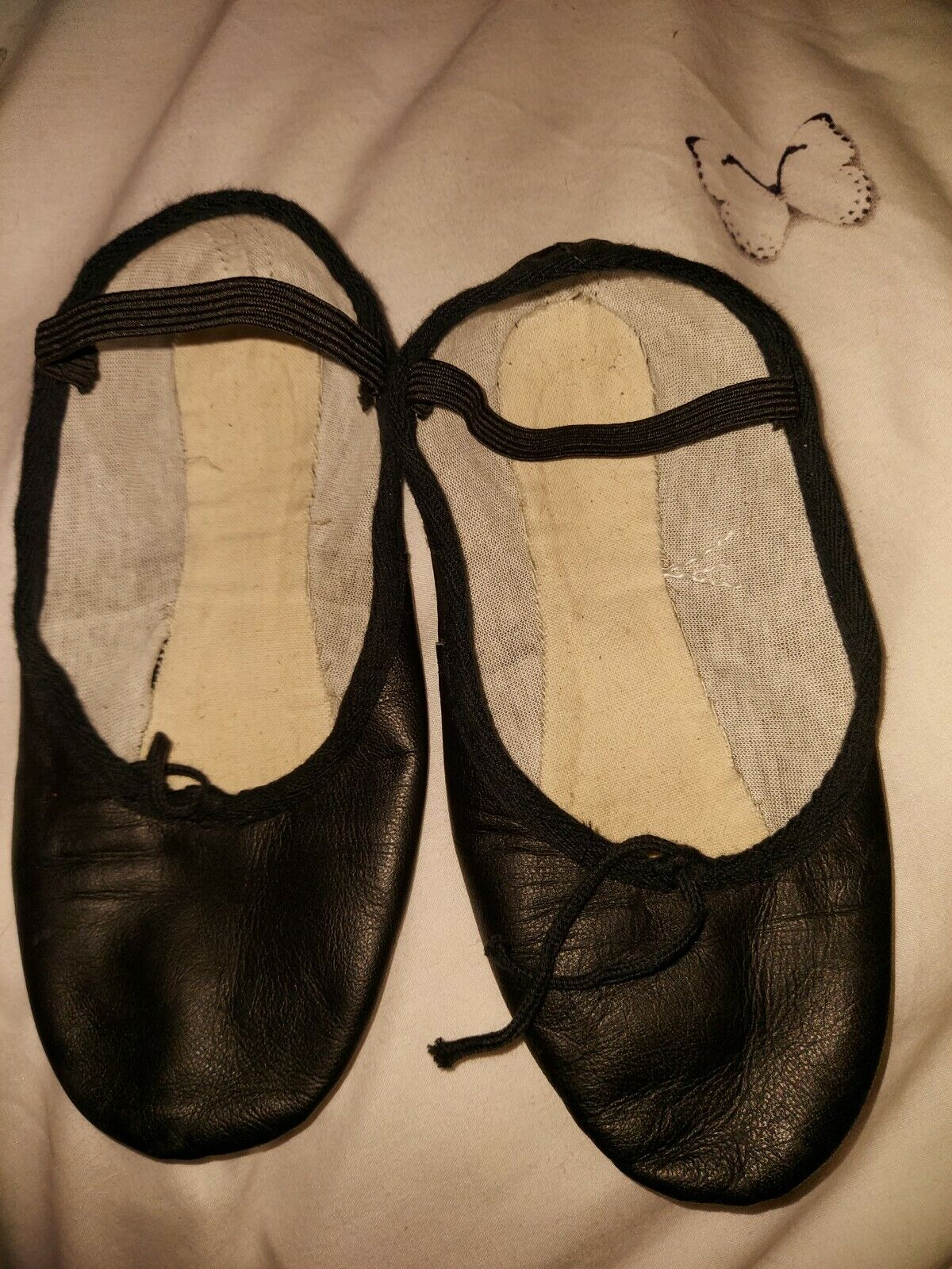 Tappers And Pointers Black Jazz Modern Dance Shoes Worn Twice Vgc Size 3.5