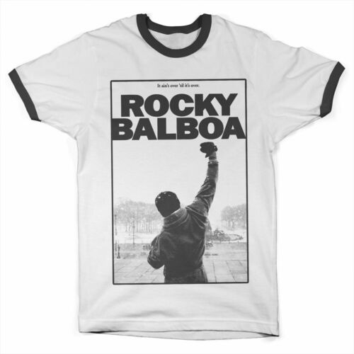 Licence Officielle ROCKY Balboa It Ain/'T Sur Contraste T-SHIRT S-XXL Tailles