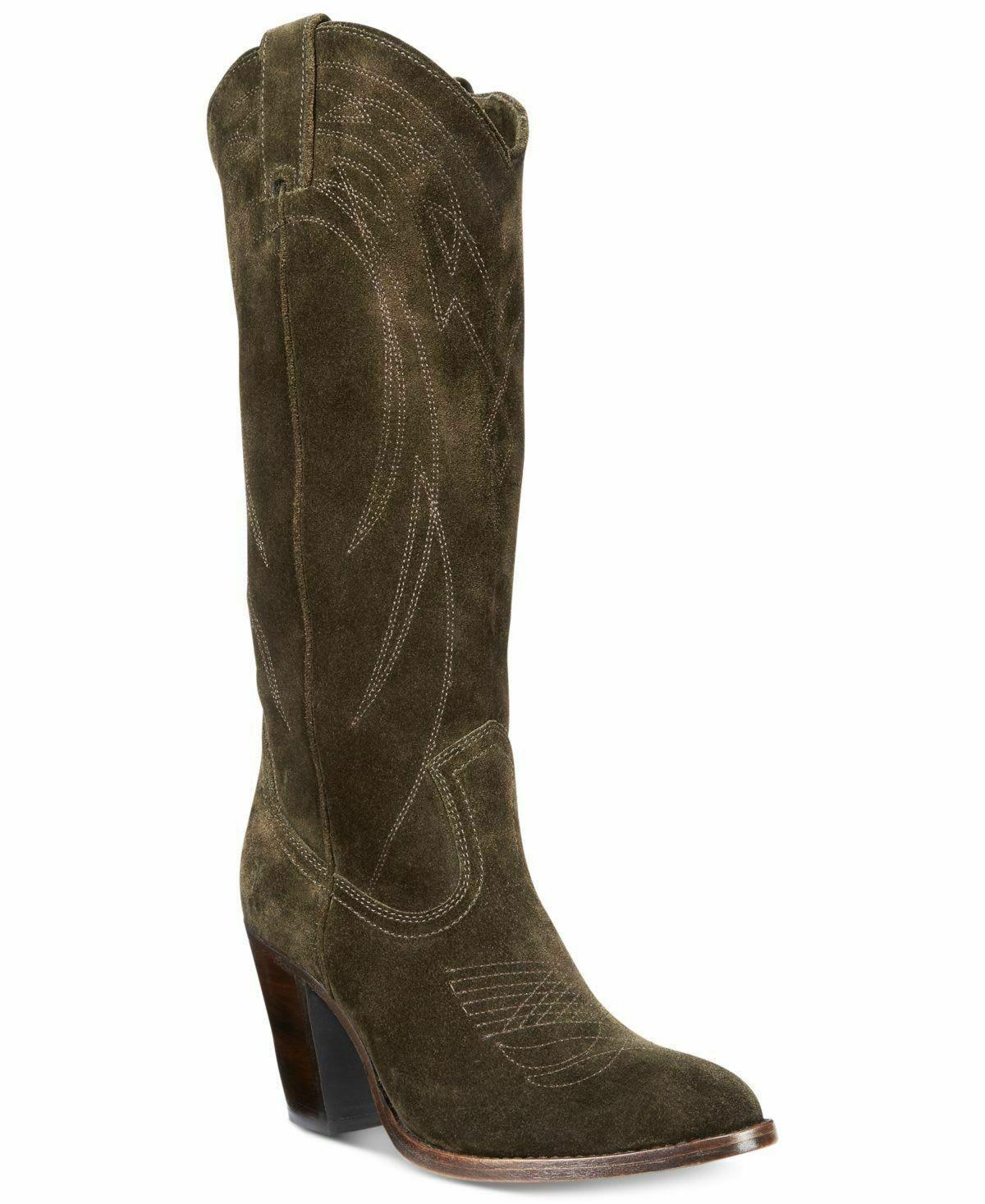 Frye Women's Women's Women's Ilana Pull On Cowboy Boots Size 8.5M Fatigue, MSRP  368 0b5ebe