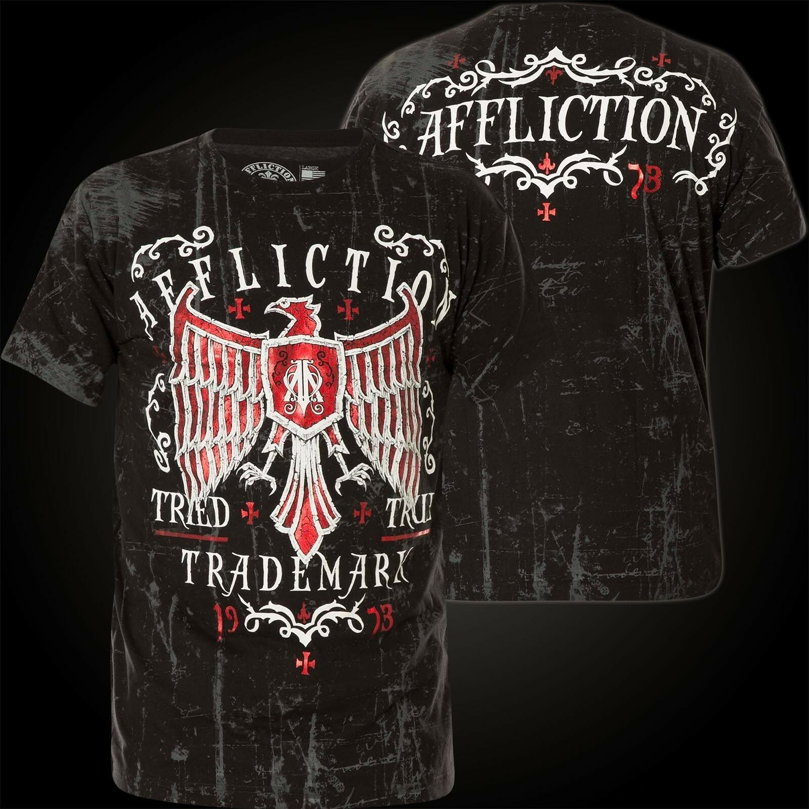 AFFLICTION T-Shirt Tried Fate black T-Shirts