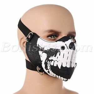 Punk Seal Skull Half Face Mask Ski Neck Snowboard Motorcycle Biker Protection Ebay