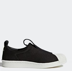 Adidas Originals SuperStar BW35 slipom Zapatos Tenis BY9137 Negro SZ4-12