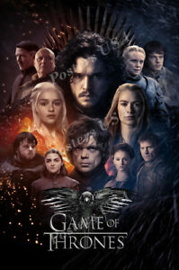 Game of Thrones Jon Snow Great War TV Show inch Poster 24x36 inch