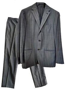 Caricamento dell immagine in corso PIOMBO-Abito-da-uomo-gessato -colore-grigio-in- 19dc21b467b