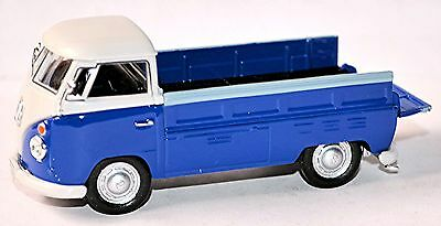 Modest Vw Volkswagen T1 Flatbed Truck Pick-up Flatbed 1951-67 Blue & White 1:43 Diversified In Packaging Cars