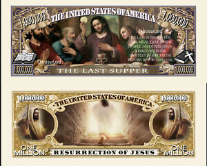 Lot of 25 Freedom Eagle Million Dollar Bill Fun Money Gospel Tract Novelty Notes