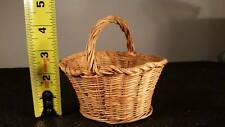 Antique, Primitive Woven Basket, Miniature, Salesman Sample