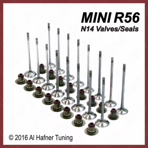 Mini Cooper R56 N14 Intake /& Exhaust Valve set seals 11347587470 11347547187
