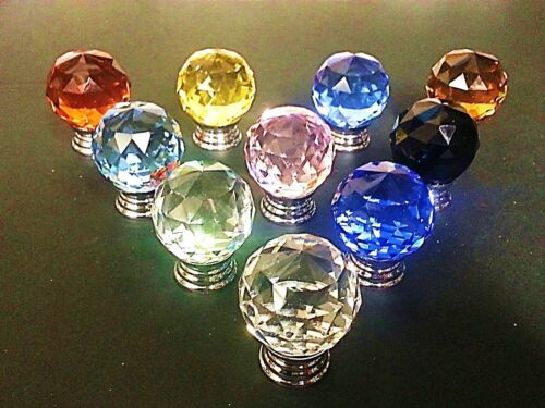 BEST Quality Crystal Glass Door Knobs Drawer Cabinet Furniture Kitchen Handle