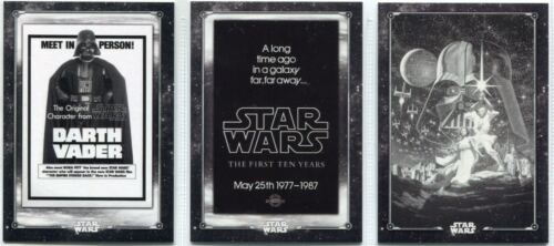 Star Wars A New Hope Black And White Complete Poster Card Chase Card Set PO1-12