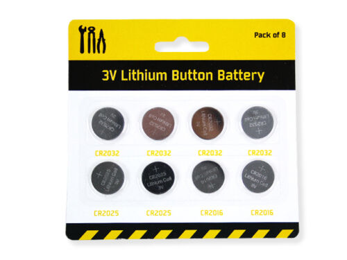 BUTTON-BATTERIES-3-VOLT-LITHIUM-CR2032-CR2025-CR2016-HIGH-QUALITY-PK-OF-8