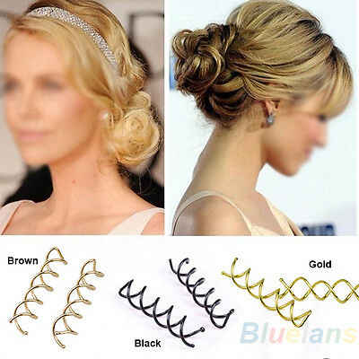 10 Pcs Beauteous Spiral Spin Screw Pin Hair Clip Twist Barrette / 3 Colors B88U