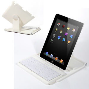 New-White-360-Degree-Swivel-Stand-Case-Bluetooth-Keyboard-for-iPad-2-3-3rd-Gen