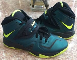 2174c9c11b13 Nike Lebrun 7 VII Soldier All Star Game Sea-Green Black Volt Size 7Y ...