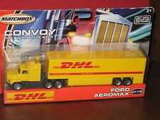 MATCHBOX Convoy DHL Semi 18 Wheel Tractor Trailer  FORD AEROMAX Truck Airline