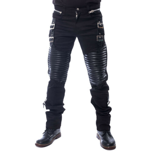 Vixxsin Gothic Goth Punk Festival Hose Kore Kunstleder Schnallen Zipper