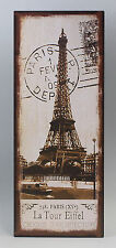 73204 Reklameschild Blechschild Eifelturm Paris Vintage Nostalgie