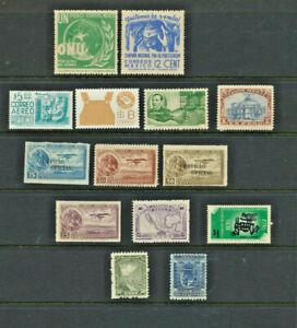 Le-Mexique-neuf-sans-charniere-Mini-Collection-de-14-differents-vintage-mexicain-timbres