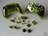 21p Green Gloss Chrome Xbox One Custom Full Controller Shell Replacement Kit
