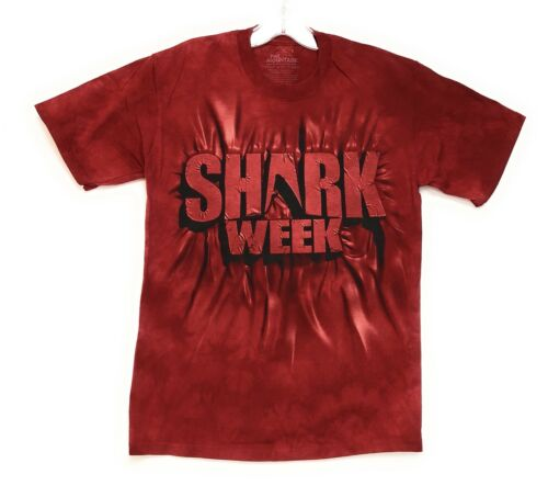 The Mountain Men/'s Red Shark Week Tee T-Shirt S-M-L-XL-2X-3X-4X-5X Made in USA.