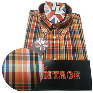 Warrior-UK-England-Button-Down-Shirt-REED-Hemd-Slim-Fit-Skinhead-Mod