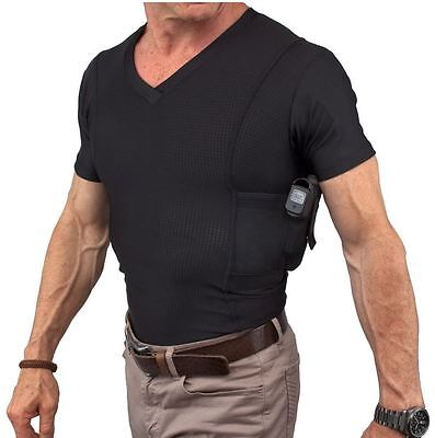 Clothing, Shoes & Accessories Undertech Undercover Men's Concealed Carry Coolux Mesh V-neck Tee 4032 Elegant In Smell
