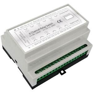 Haseman Z Wave Din Rail 6x2kw Universal Switch Module 4