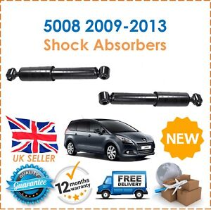 FOR PEUGEOT 5008 1.6 2.0 2009-10//2013 NEW 2 X REAR AXLE SHOCK ABSORBER SET