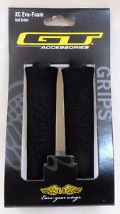 GT-Wing-Logo-BMX-Mountain-Bikes-XC-Eva-Foam-Bicycle-Handlebar-Grips-Black-Pair