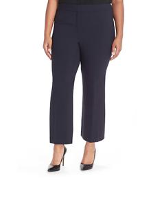 Classiques Entier 7719 Women's Navy bluee Crop Flare Leg Pants Sz 22W
