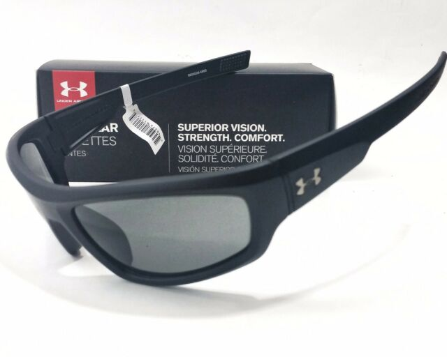 0dd01c9bac Under Armour Power Sunglasses Satin Black Frame gray Lens