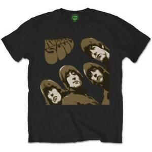 The Beatles Rubber Soul Sketch Official Merchandise T-Shirt M/L/XL - Neu